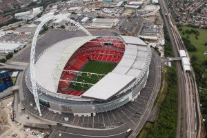 Wembley Stadium from the air