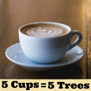 5 cups 5 trees