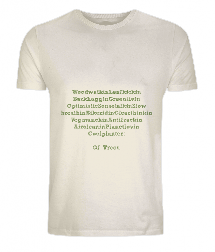 Ethical organic cotton tee shirt from The Word Forest Organisation