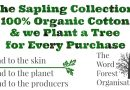 Launching Our Exclusive Range of Organic Clothes: planting a tree for every purchase!