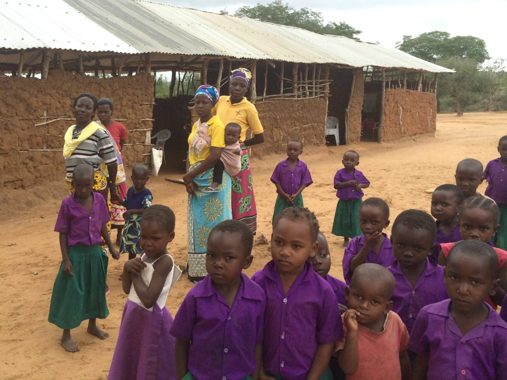Kadunguni Primary School: we'll be replacing these huts & building the children safe, new classrooms.
