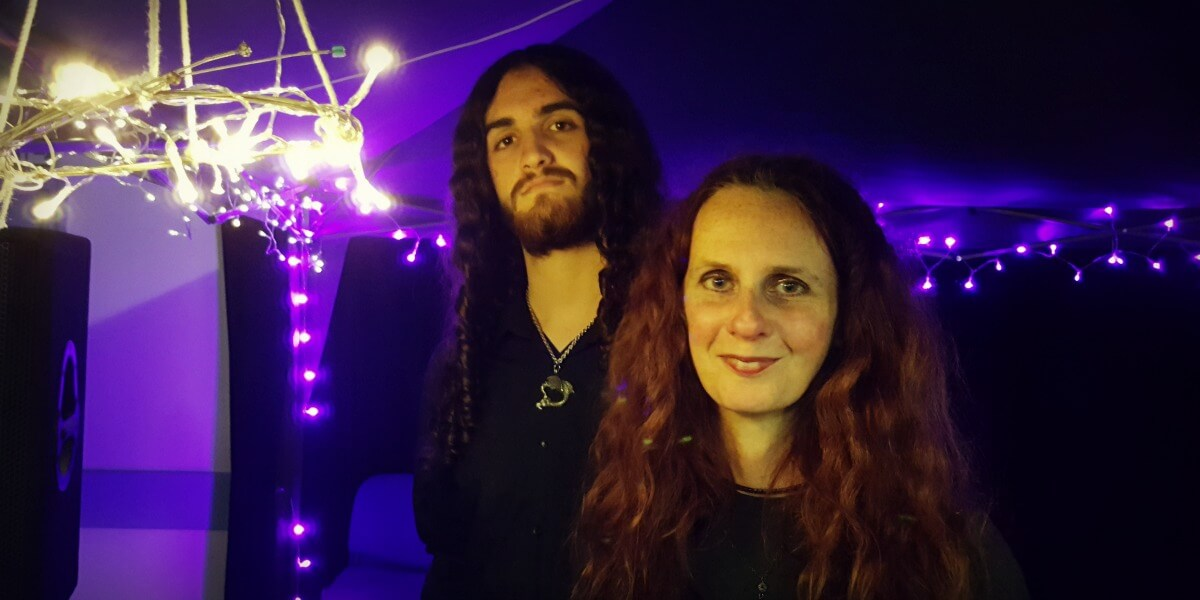 Izzy and Jed Robertson, before The Faeries' Bazaar Fundraiser for The Word Forest Organisation