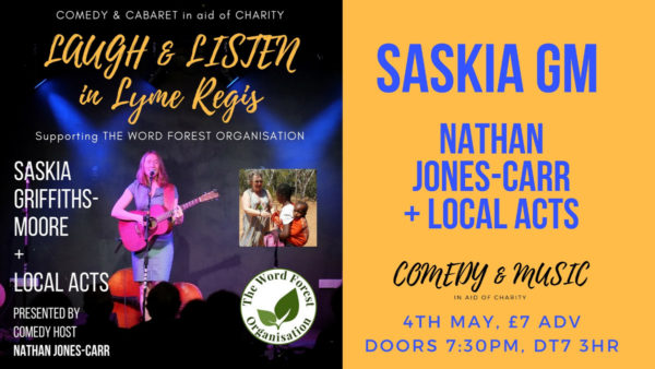 Poster for Saskia Griffiths-Moore fundraising concert for Word Forest