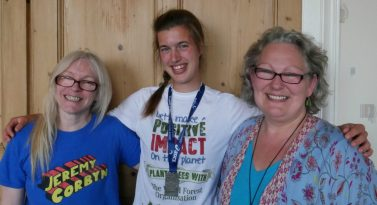 Trustee Rikey Austin, Supporter Wendy Robertshaw and Word Forest Organisation CEO Tracey West