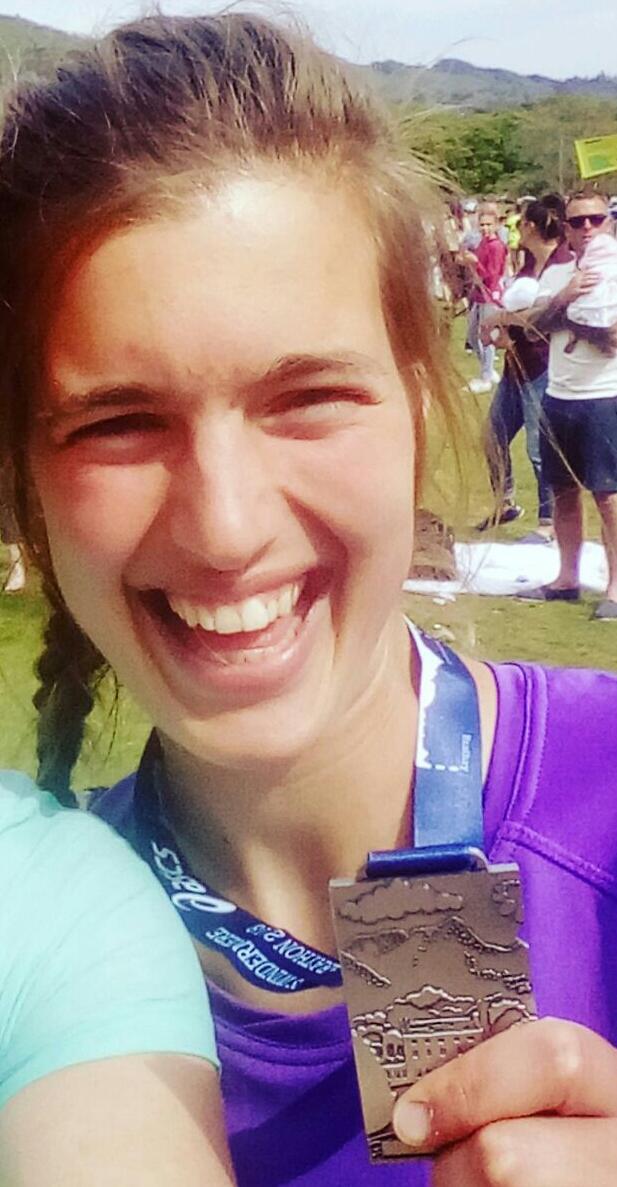 Wendy Robertshaw who ran a marathon for The Word Forest Organisation.