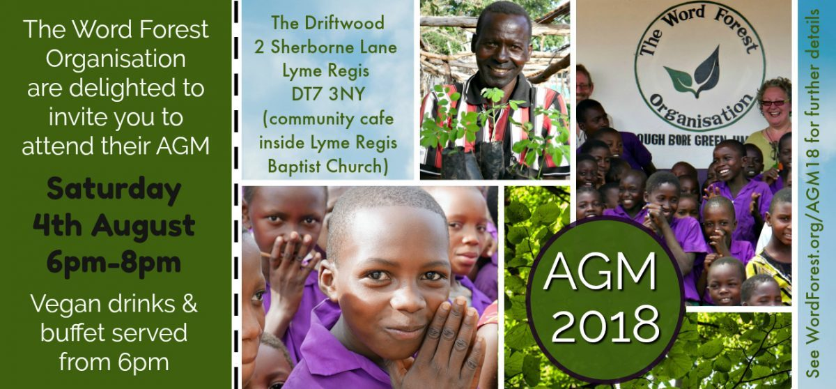 The Word Forest Organisation AGM 2018 Invitation