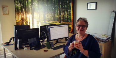 The Word Forest Organisation CEO Tracey West in the new office