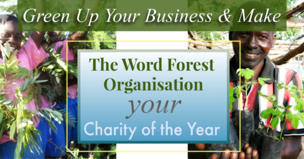 Charity of the Year poster for The Word Forest Organisation