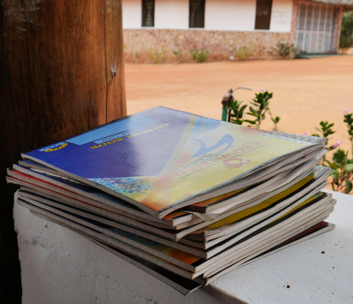 school books from the Mothers of the Forest