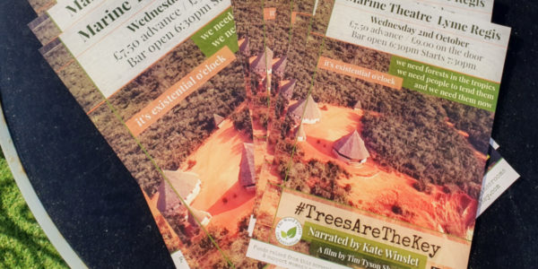 Poster for #TreesAreTheKey: film by Tim Short, narrated by Kate Winslet