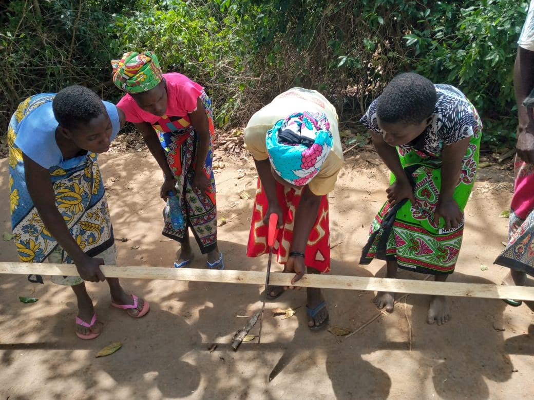 Mothers of the Forest making a-frames