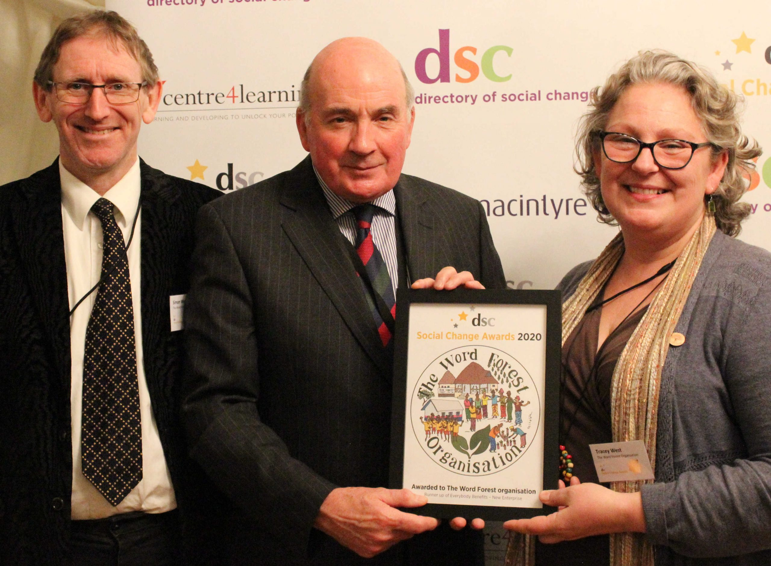 Simon West, Lord Dannatt and Tracey West in the House of Lords