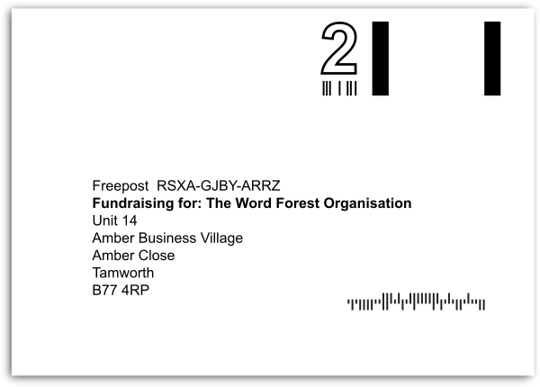 freepost envelope for Recycling for Good Causes