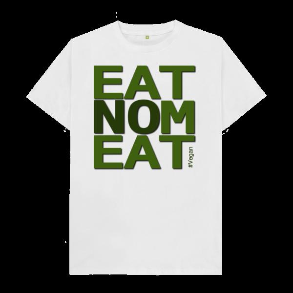 White EatNoMeat #Vegan Teeshirt