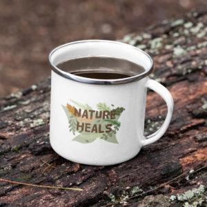 Nature heals enamel mug