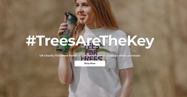 #TreesAreTheKey range of ethical tee-shirt poster