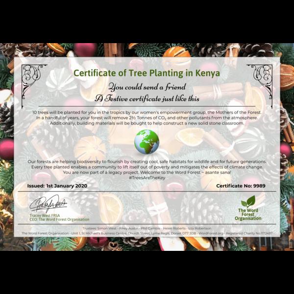 Festive certificate