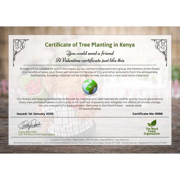 Valentine certificate