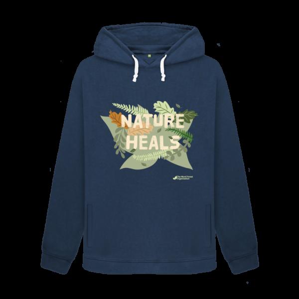Women's Nature Heals Hoodie - blue