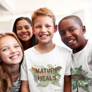 Children wearing Word Forest Tee-shirts