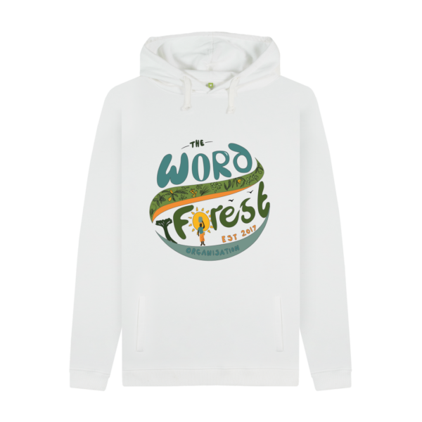 Men's The Word Forest World Pullover Hoodie White