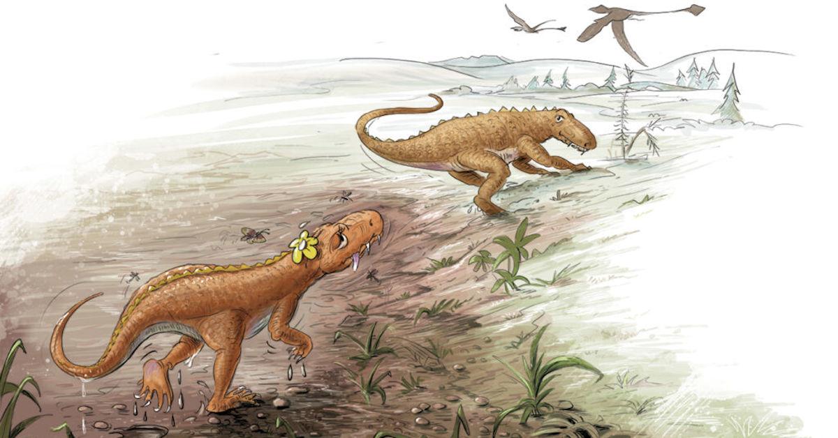 Two Rausacian Dinosaurs from Rosa's Footprint
