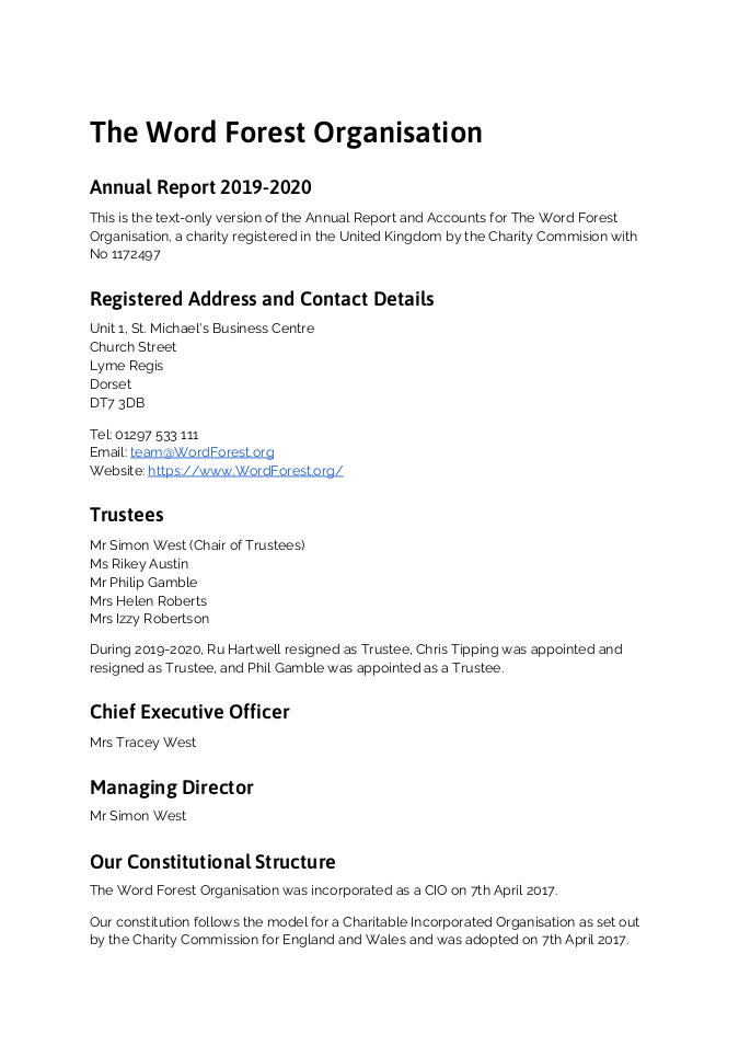 Annual Report 2019-2020 (text only) Cover