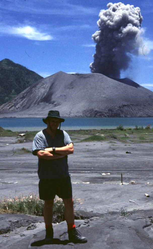 Professor Bill McGuire at Tavurvur, Papua New Guinea