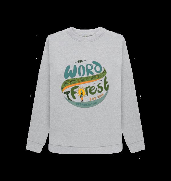 Women's The Word Forest World Crewneck Jumper (Grey)