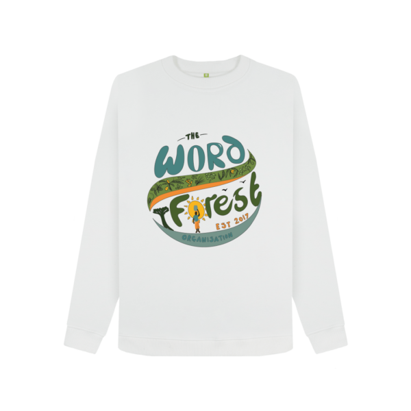Women's The Word Forest World Crewneck Jumper (White)
