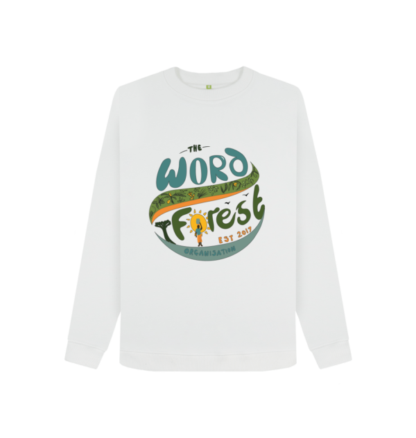 Women's The Word Forest World Crewneck Jumper (White)