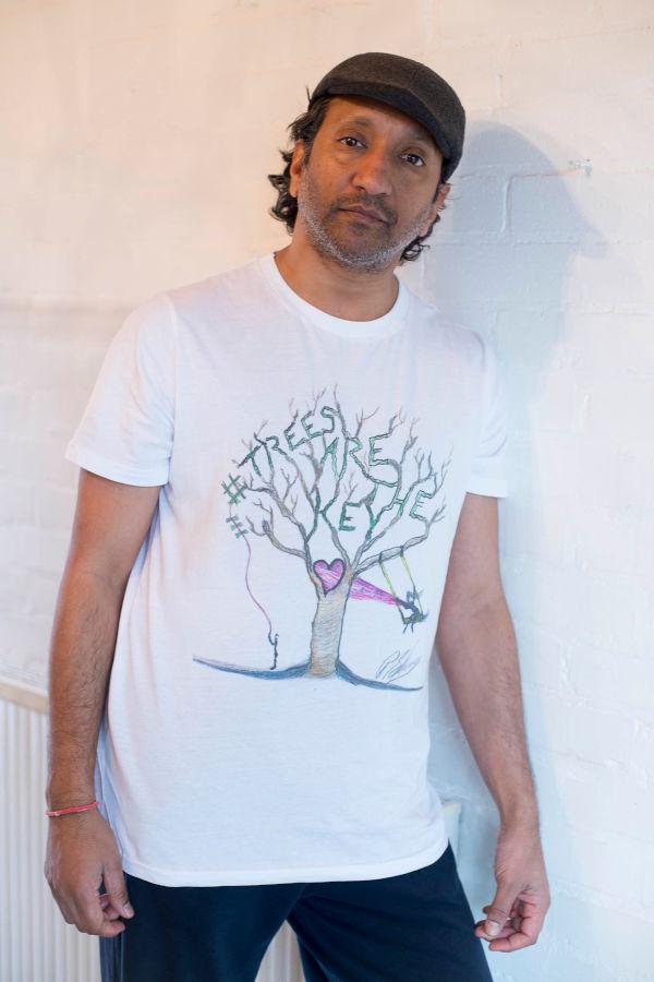 Phaldut Sharma wearing his Celebri-Tee-Shirt