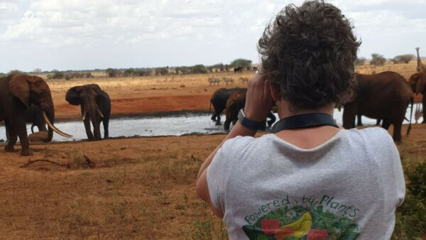 Tracey at the watering hole