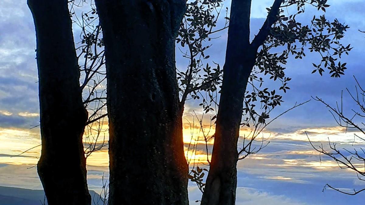 sunrise at Lyme Regis