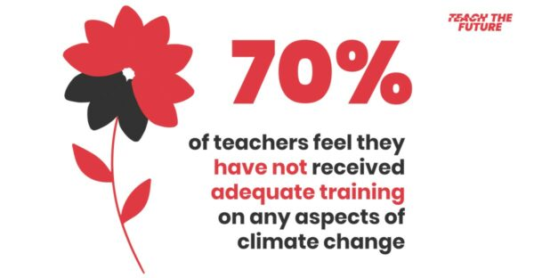 poster with statistics from Teach the Future
