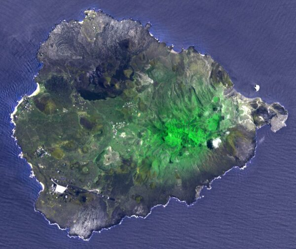 Ascension Island from space. Image by NASA/GSFC/METI/ERSDAC/JAROS, and U.S./Japan ASTER Science Team