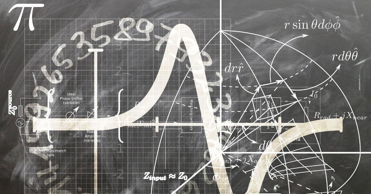 Mathematical formulae on a chalk board