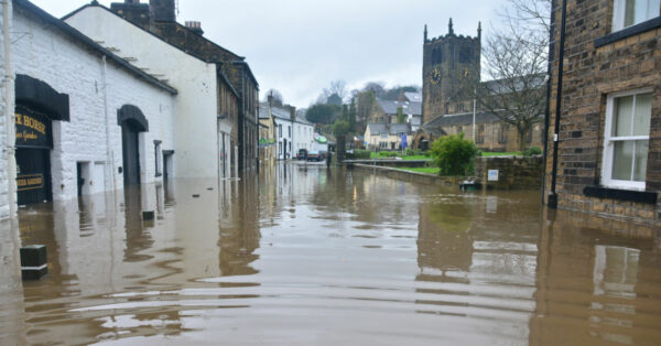 Flooded UK town by Chris Gallagher on Unsplash