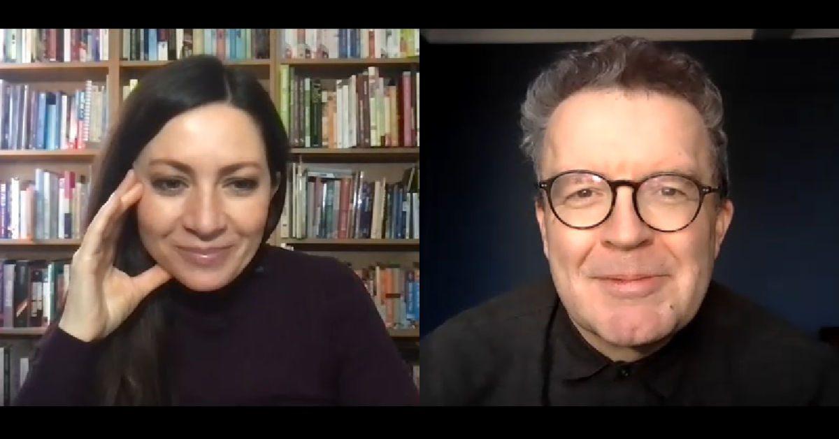 Clare Nasir interviewing Tom Watson