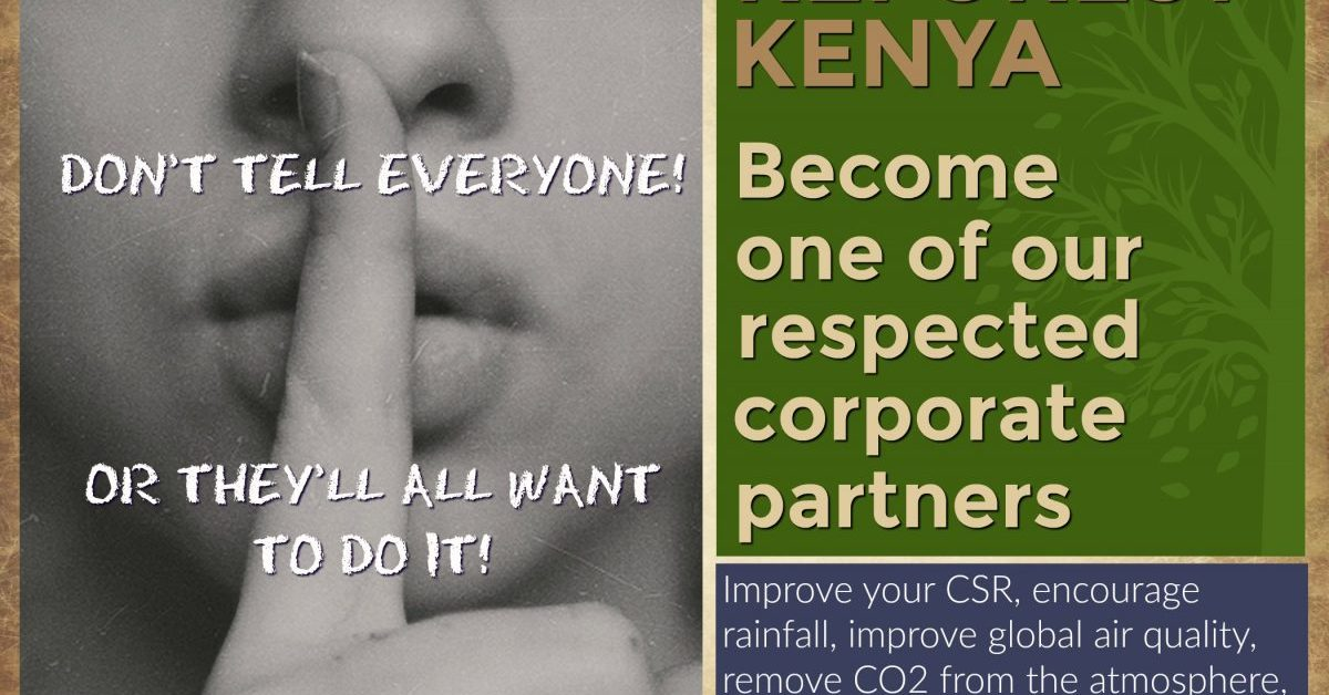 Become a corporate partner of the Word Forest Organisation poster