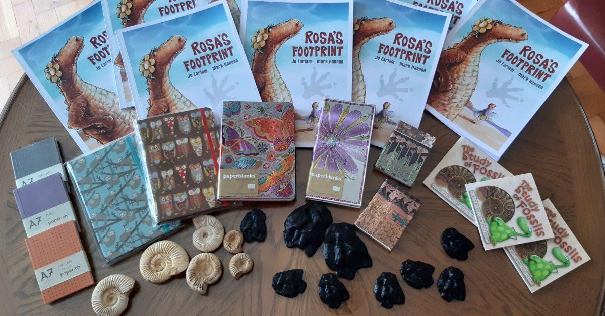 Rosa's Footprint merchandise. Image by Jo Earlam
