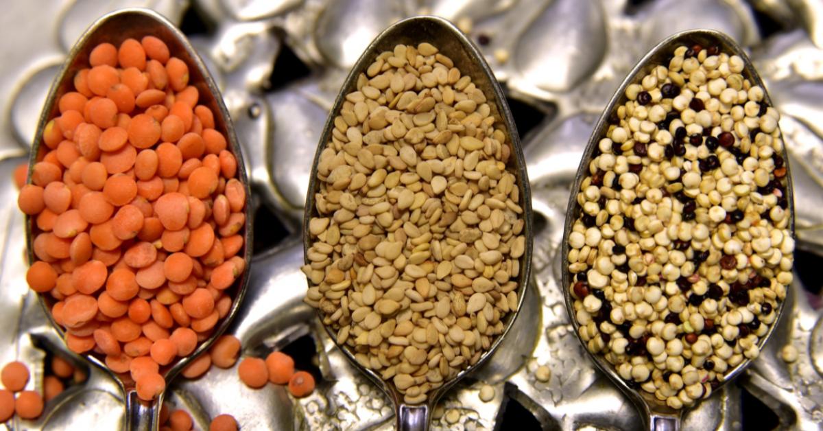 spoons full of lentils