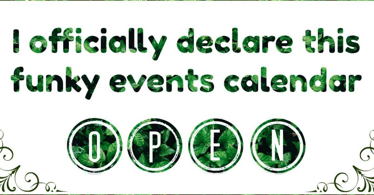 Events Calendar Is Open!